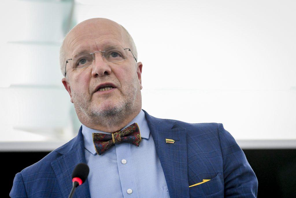 Europos Parlamento narys Juozas Olekas plenarinėje sesijoje Strasbūre